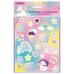 Unicorn Rainbow Stickers Sheets 4pc