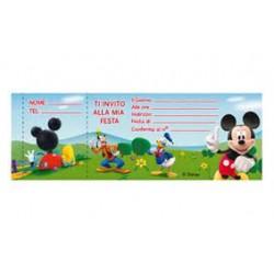 Biglietti Invito Mickey Clubhouse