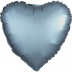 Satin Blue Heart Foil Balloon