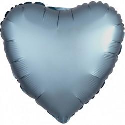 Satin Blue Heart Foil Balloon