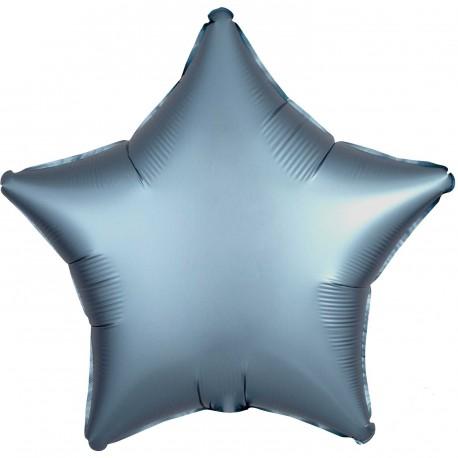 Satin Blue Star Foil Balloon