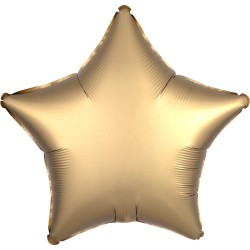 Gold Star Satin Luxe Foil Balloon
