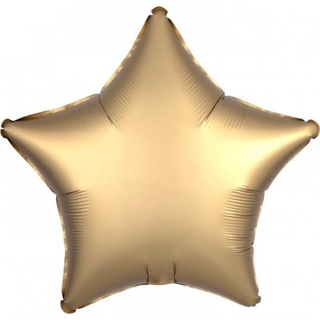 Gold Star Satin Luxe Foil Balloon