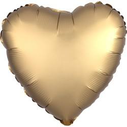 Gold Heart Satin Luxe Foil Balloon