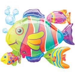 Tropical Fish Cluster SuperShape Foil Balloon