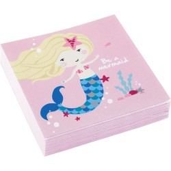 Be a Mermaid Beverage Napkins