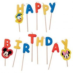 Mickey Mouse Happy Birthday Candles Set