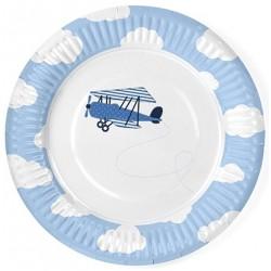 Piattini festa Aeroplano nelle Nuvole