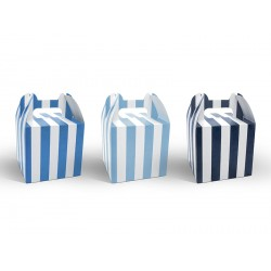 Blue Stripes Treat Boxes Set