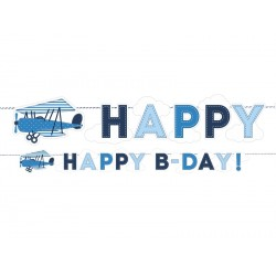 Little Plane Birthday Banner