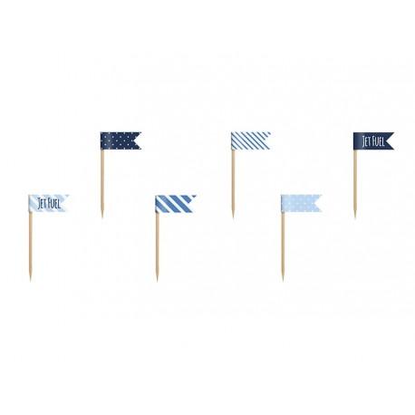 Blue Mix Buffet Mini Flags