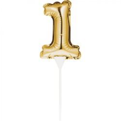 Cake Topper 1° compleanno Palloncino Oro