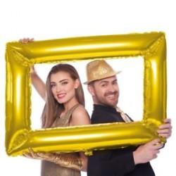 Palloncino cornice per foto foil Oro