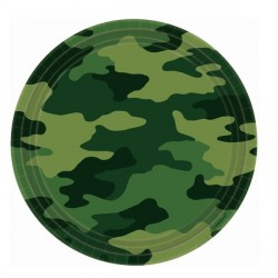 Camouflage Mimetic Dessert Plates