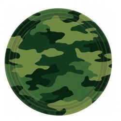 Camouflage Mimetic Dessert Plates