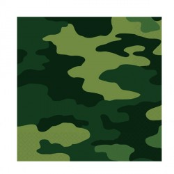 Camouflage Mimetic Paper Lunch Napkins