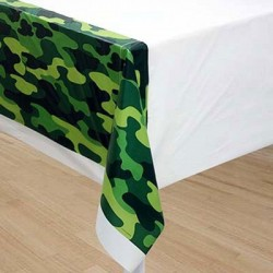 Camouflage Mimetic Plastic Tablecover