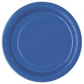 Royal Blue Paper Dinner Plates