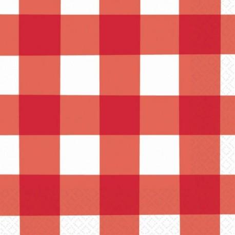 Tovaglioli a Quadretti Rosso e Bianco - Picnic Party
