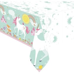 Magical Unicorn plastic Tablecover
