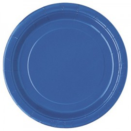 Royal Blue Paper Dessert Plates