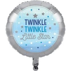 Palloncino foil Stelline Azzurro - Twinkle Twinkle Little Star
