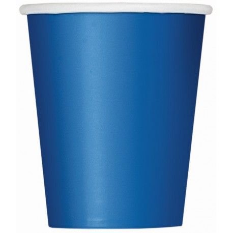 Bicchieri Carta Blu 270ml 8pz