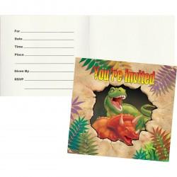 Biglietti invito Dinosauri - Dino Blast