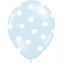 Light Blue Dots Balloons 5pc