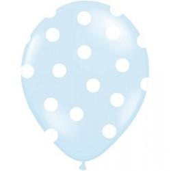 Palloncini azzurri a pois bianco 5pz