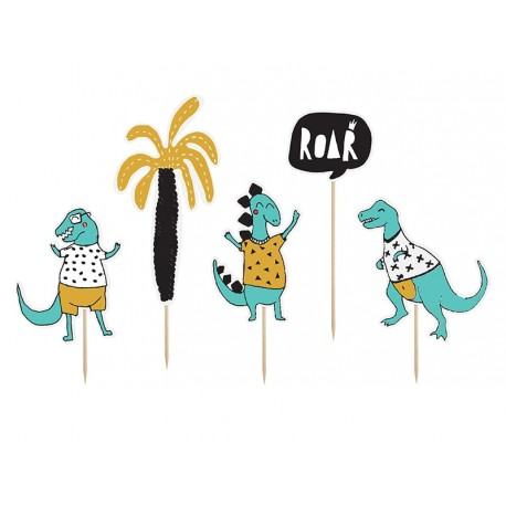 """Dino Party """"Grrrrr"""" Toppers"""