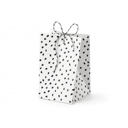 White and Black Dots Treat Boxes