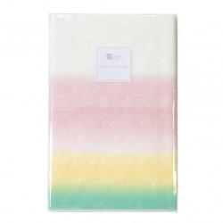Tovaglia Love Pastel verde, giallo e rosa