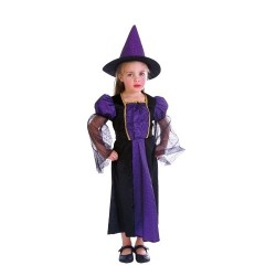 Little Witch Halloween Costume Purple and Black 3-4 years