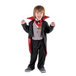 Costume Vampiro nero, grigio e rosso 3-4 anni