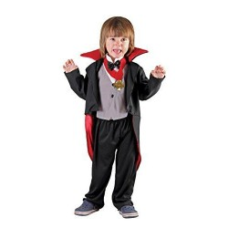 Vampire Costume 3-4 years black, grey and red