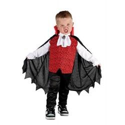 Costume Vampiro Nero e Rosso 3-4 anni