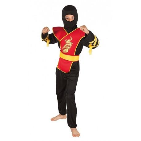 Costume Ninja Master Bambino 4-6 anni