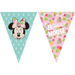 Minnie Tropical Flags Banner