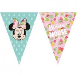 Minnie Tropical Flags Banner