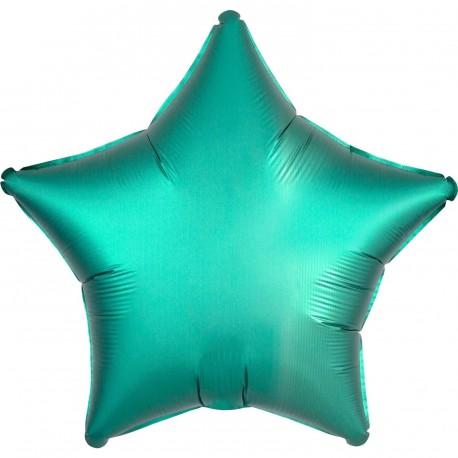 Satin Green Star Foil Balloon