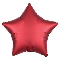 Satin Red Star Foil Balloon