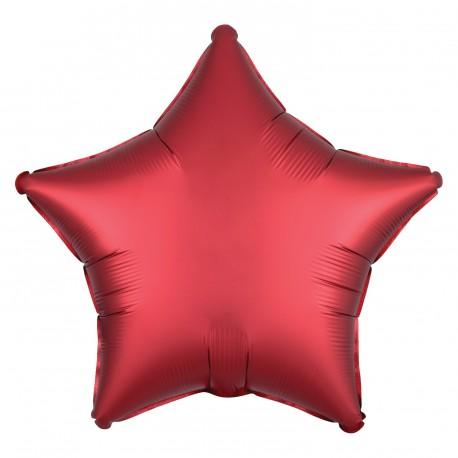 Satin Red Star Foil Balloon