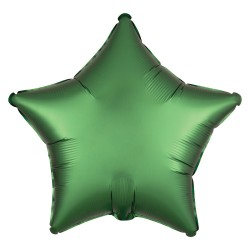 Satin Emerald Green Star Foil Balloon