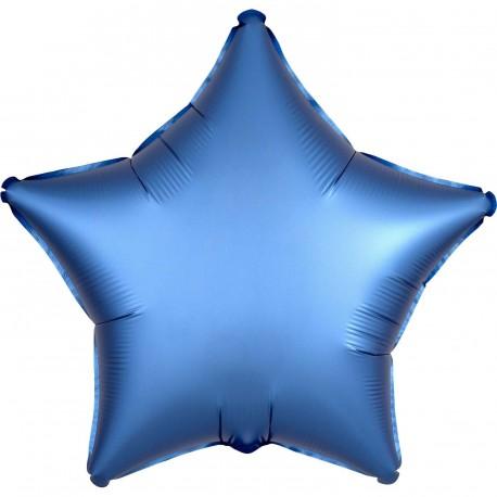 Palloncino foil satinato Stella Blu d5bf18b9ffb6