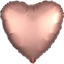 Palloncino foil satin Cuore Oro Rosa