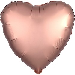 Satin Rose Gold Heart Foil Balloon