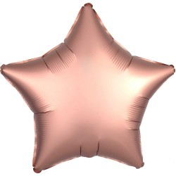 Satin Rose Gold Star Foil Balloon