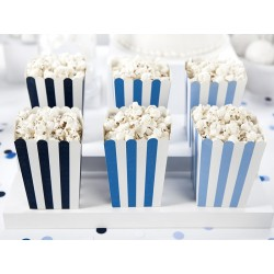 Popcorn Boxes Set Blue Stripes
