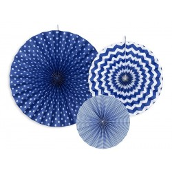 Pendenti Rosette di carta Mix Blue